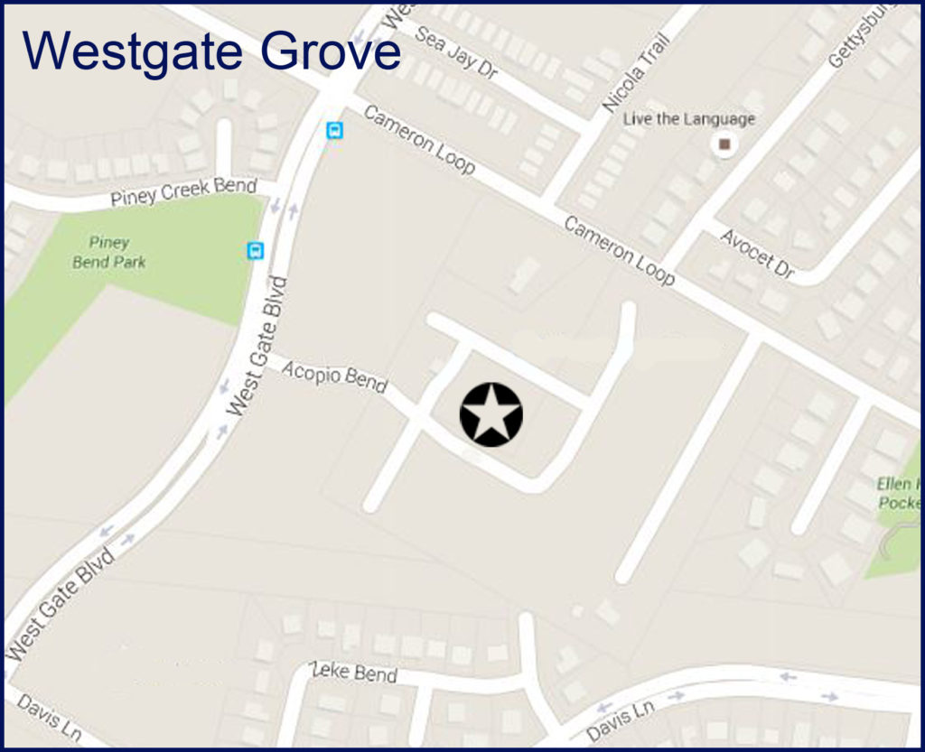 westgate grove map